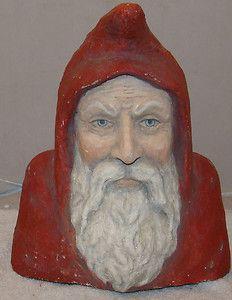 Katherine Webber Papier Mache Santa Figure