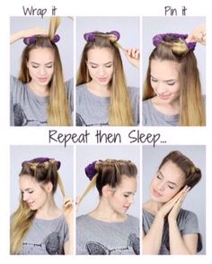 Easy Way To Get Curls Overnight Hair Hair Hair Styles Curls