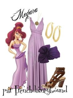 """""""Megara (Hercules)"""" by frenchdisneybound ❤️ liked on Polyvore featuring House of Harlow 1960, Mercury, disney, hercules and disneybound"""