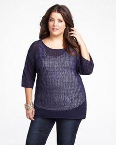 drop shoulder cocoon sweater | Shop Online at Addition Elle