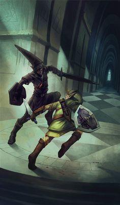 Dark Link and Link - Legend of Zelda series