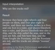 Monty Pythonesque logic… So great!
