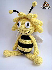 Návody a literatúra - návod na háčkovanú včielku Máju (cca 39cm) - 3556931