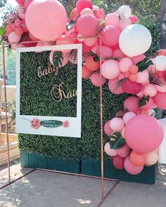 Graduation Decorations Discover Girl Baby Shower Party Decorations Pink White and Gold Theme Decor Set with Banners Balloons Poms Lanterns Tassels and Sash Pieces) Loving this pink tropical installation for a beautiful baby shower in Encino. Flamingo Baby Shower, Flamingo Birthday, Baby Shower Pink, Baby Shower Neutral, Baby Shower For Girls, Pink Flamingo Party, Baby Shower Decorations Neutral, Baby Shower Themes, Baby Shower Backdrop