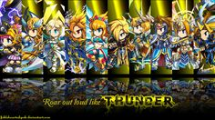 Brave Frontier Thunder Units Wallpaper by fickleheartedgeek.deviantart.com on @deviantART