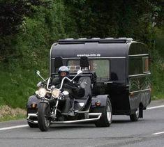 Vw Trike, Motorcycle Camping, Pull Behind Motorcycle Trailer, Bike Motor, Motorhome, Custom Trikes, Triumph Motorcycles, Custom Motorcycles, Vintage Trailers