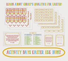 Activity Day Ideas: Activity Days Easter Egg Hunt - Learning and Living the Gospel