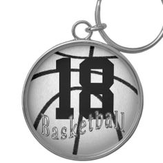 Basketball Keychains with YOUR Jersey NUMBER.  Basketball Stuff With many being Customizable with YOUR NAME and or NUMBER.  Lots more Custom and Personalized Basketball Gifts CLICK HERE: http://www.zazzle.com/littlelindapinda/gifts?cg=196808750908670951&rf=238147997806552929*/  ALL of Little Linda Pinda Designs CLICK HERE: http://www.Zazzle.com/LittleLindaPinda*/