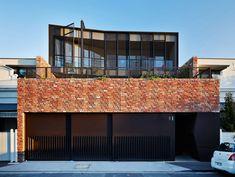 Brick House Designs, Modern House Design, A As Architecture, Residential Architecture, Architecture Interiors, Melbourne House, D House, Brickwork, Industrial House
