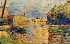 George Seurat (French, 1859-1891) - River's Edge, 1883-1884