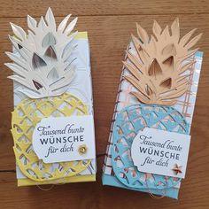 """Gefällt 15 Mal, 1 Kommentare - Gabi Rieser (@gabis_paperart) auf Instagram: """"Kleine Verpackung 😍 für Schoki. Ich habe die Ananas bei @stempelfantasie entdeckt. 🤩 #stampinup…"""""""