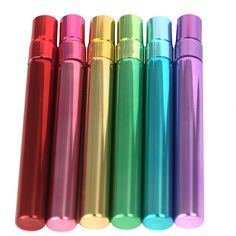 Love these rainbow color 10 ml sprayers! These are perfect way to carry your favorite oil blends in your purse. Also great for owie spray, hand sanitizer, and pillow spray. click image for diy recipes and for info on where to buy Essential Oil Supplies, Essential Oil Bottles, Essential Oil Uses, Young Living Oils, Young Living Essential Oils, Perfume, Doterra Essential Oils, Homemade Beauty, Natural Oils