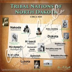 Tribal Nations of North Dakota Map Native American Images, Native American Tribes, Native American History, Indian Tribes, Native Indian, Social Studies Worksheets, North America Map, Schools First, Us History