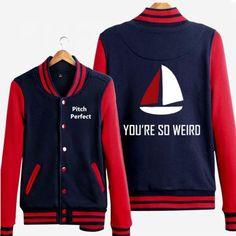 Pitch Perfect baseball jacket Bechloe you're so weird sweatshirts for men