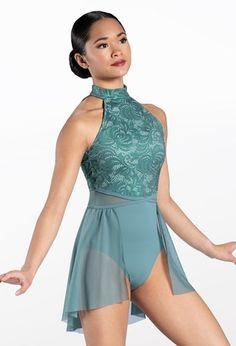 Weissman® Elegant Dresses, Formal Dresses, Lyrical Costumes, Dance Leotards, Halter Neck, Bodice, Rompers, Skating, Lace