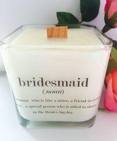 NEW Bridesmaid Soy Candle 12 oz Jar Bridesmaid by VintageCreated #yankeecandleswedding