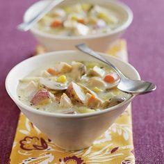 Creamy Mushroom and Chicken Soup.