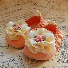 PEACH+SORBETlace+baby+shoes+by+flippybaby+on+Etsy,+$50.00