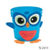 owl bucket craft (printable instructions available)