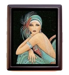 Flapper Girl 1920's Cigarette Case Business by sweetheartsinner