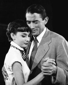 """Gregory P eck and Audrey Hepburn in """"Roman Holiday"""""""