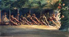 famous painting Siva danse la nuit (aussi connu comme un Samoan Dance) of John…