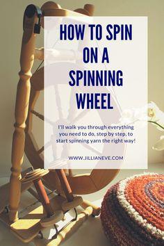 Spinning Wool, Hand Spinning, Spinning Wheels, Diy Spinning Wheel, Fun Craft, Yarn Crafts, Diy Crafts, Weaving Textiles, Loom Weaving