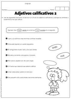 Adjetivos Spanish Grammar, Spanish Language Learning, Spanish Teacher, Spanish Classroom, Teaching Spanish, English Vocabulary, Teaching Resources, Middle School Spanish, Speech Activities
