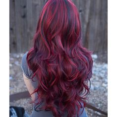 Lucy Fiery Red Long Wavy Wig with Lowlights, Synthetic Hair ($45) ❤ liked on Polyvore featuring beauty products, haircare, hair styling tools, hair and wig