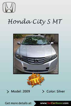 Best Selling Used #Honda #Car. Buy Verified #Honda_City Car FOR SALE.  Checkout Honda City S MT Silver Color Model Specification And More Features  At @ ...