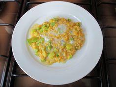 Risotto   carota gorgonzola    e  zucchine.   Gino D'Aquino