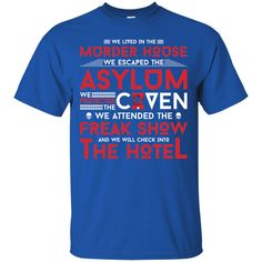 AHS Murder House, Asylum, Coven, Freak Show, Hotel Shirt -01