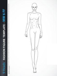 Fashion figure templates.