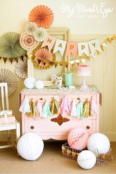 Beautiful colors for neutral theme baby shower