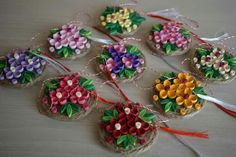 Christmas Wrapping, Christmas Cards, Christmas Ornaments, Paper Quilling, Flower Making, Wings, Clay, Holiday Decor, Flowers