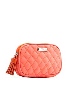 NECESSAIRE in coral red by Mango