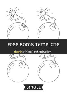 Free Bomb Template - Small