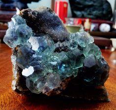 Green Purple core Fluorite from Shizhuyuan Chenzhou Hunan China
