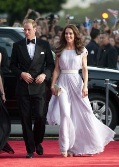 Britian's Prince William and his wife Catherine, Duchess of Cambridge, arrive at the BAFTA Brits to Watch event in Los Angeles