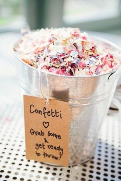 Confetti Bucket Petals Rustic Woodland Floral Wedding http://kellyjphotography.co.uk/: