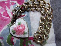 Vintage Lovely SaraCov Heart Charm Bracelet by Scentedlingerie, $16.00