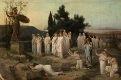 Louis Hector Leroux, 1829-1900  Adoration of the goddess Pallas Athena.