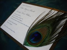 The Colleen Peacock Invitation. $3.99, via Etsy.