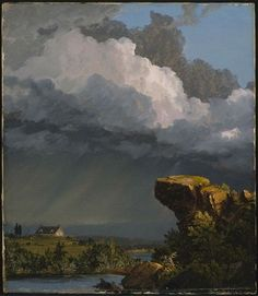Frederick Edwin Church (American, 1826-1900), A Passing Storm, 1849. Oil on canvas. Museum of Fine Arts, Boston.