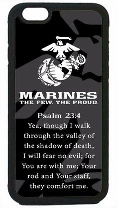 Usmc Marines Marine Prayer Psalm Case Rubber/Hard Cover For Iphone Plus Marine Corps Quotes, Marine Corps Humor, Usmc Quotes, Military Quotes, Us Marine Corps, Marine Mom Quotes, Marine Corps Tattoos, Marine Usa, Navy Marine