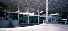 The recycling plant combines a heterogeneous rubbish selecting and processing complex, storage, workshops and offices, all beneath a vast green inclined roof Recycling Plant, Compost, Environment, Plants, Factories, Real Madrid, Buildings, Design, Studio