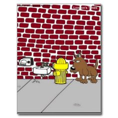 """You are viewing a of Rick London gift tee or collectible titled """"Canine Public Bathrooms"""". We are honored you visited us. Here you will find award-winning cartoons by the team of Londons Times Cartoons, ranked #1 offbeat cartoon on Google since 2005 We offer the funniest highest quality tees, mugs, mouse pads, posters, prints, tote bags, caps, aprons, and much much more at very affordable prices. All designs are by Rick London and his award-winning Google #1 ranked offbeat cartoon """"Londons…"""