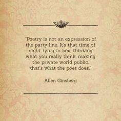 Allen Ginsberg and Poetry | Out of Print Clothing