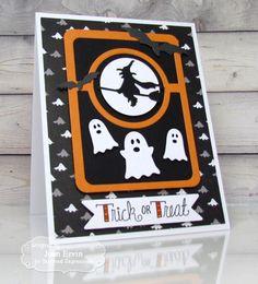 Trick or Treat Card by Joan Ervin #Cardmaking, #Halloween, #LittleBitsDies…