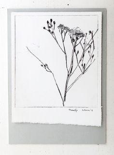 scherm - dry needle print